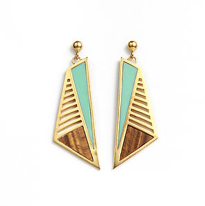 Nvda Statement Earrings - earrings