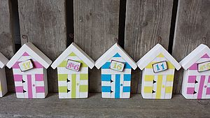 Beach Hut Place Card Photo Holder - kitchen