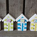 Beach Hut Place Card Photo Holder