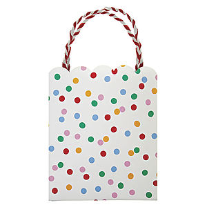 Polka Dot Party Bag Set Of Eight