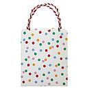 Polka Dot Party Bag Set Of Eight