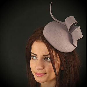 Pamela Felt Cocktail Hat. Choose Your Colour - hats, scarves & gloves
