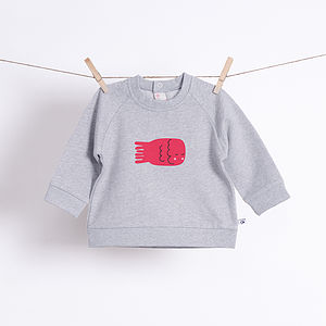 Baby's Fish Organic Sweatshirt - clothing