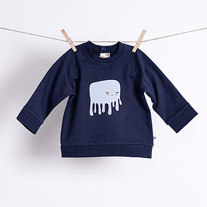 Baby's Octopus Organic Sweatshirt - clothing