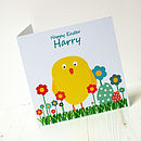 Personalised Easter Chick Fluffy Tail Card