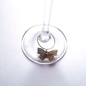 Butterfly Wine Glass Charms - kitchen