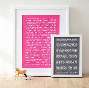 Collective Animal Nouns Art Print - pictures & prints for children