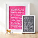 Collective Animal Nouns Art Print
