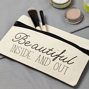 'Beautiful Inside And Out' Case - make-up & wash bags