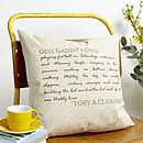 Personalised Dad Loves Cushion