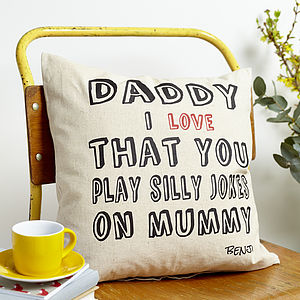 Personalised Dad Love Cushion - gifts for fathers