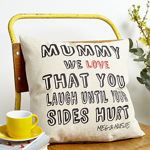 Personalised 'Mummy Love That' Cushion - gifts from younger children