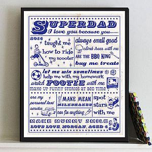 'Superdad' Print Personalised