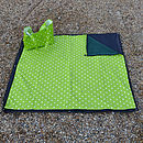 Oily Rag Waterproof Picnic Blanket Rug + Bag