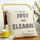 Personalised 'When We Met' Cushion