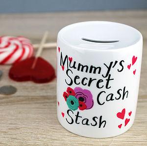 Personalised 'Flowers' Moneybox