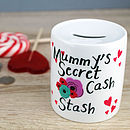 Personalised 'Flowers' Moneybox