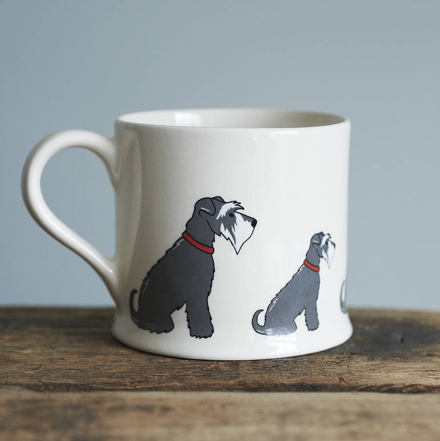 grey schnauzer mug by sweet william designs. Black Bedroom Furniture Sets. Home Design Ideas