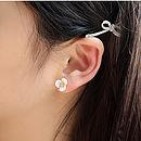 Mother Of Pearl Petal Flower Stud Earrings