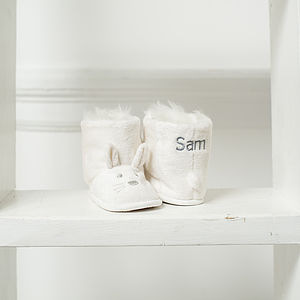 Personalised Unisex Bunny Booties - gifts for babies