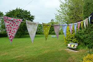 Oily Rag Outdoor Classic Oilcloth Bunting - children's room
