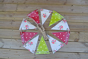 Oily Rag Outdoor Vintage Oilcloth Bunting - art & decorations