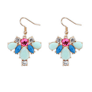 Pastel Coloured Gemstone Drop Earrings - cocktail jewellery
