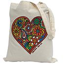 Colour In Heart Tote Bag