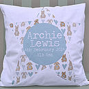 New Baby Boy Personalised Cushion