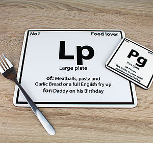 Periodic Placemat - placemats & coasters