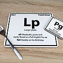 Thumb periodic placemat
