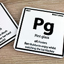 Personalised Periodic Coaster