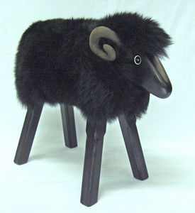 Little Ram Footstool - footstools & pouffes