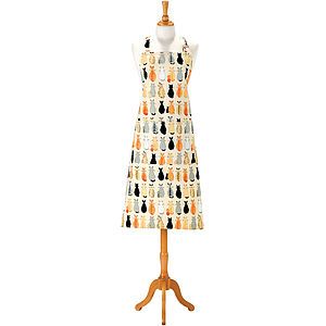 Cats In Waiting Cotton Apron - aprons