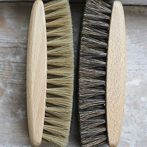 Luxury Horse Hair Shoe Shining Brushes