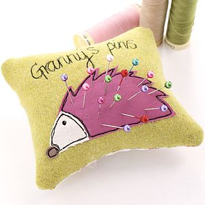 Personalised Hedgehog Pin Cushion - leisure