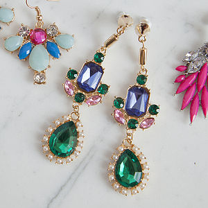 Multi Coloured Chandelier Earrings - earrings
