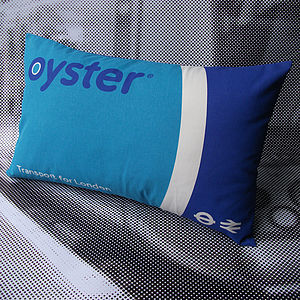 50% Off! Oyster Card Cushion - patterned cushions