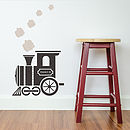 Children's Personalised Train Wall Sticker