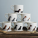Set Of Five Dog Mugs