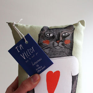 Victor Kitty Pillow - cushions