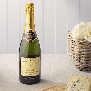 Personalised Bottle Of Champagne - champagne & prosecco