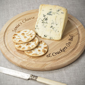 Personalised Wooden Cheese Board - cheese boards