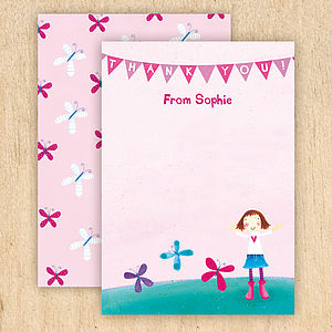 Personalised Butterfly Thank You Cards