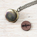 Personalised Wooden Sound Wave Locket