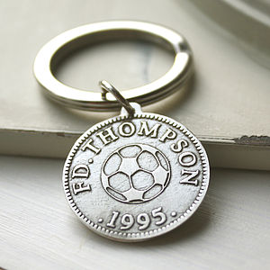 Personalised Sport And Hobby Coin Keyring