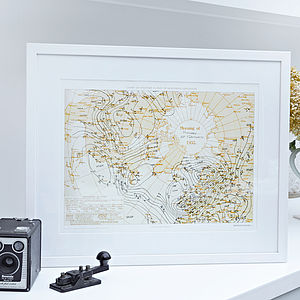 Personalised Weather Chart Print