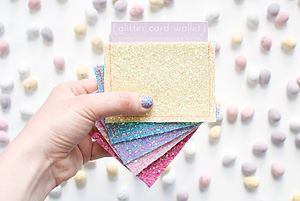 Glitter Oyster Card Holder - bags & purses