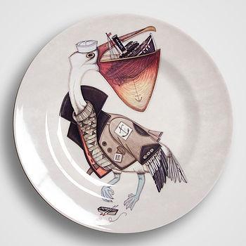 Boat By Beak Melamine Plate