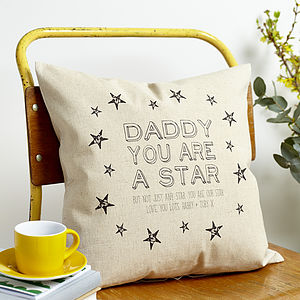 Personalised 'Daddy Star' Cushion - personalised cushions